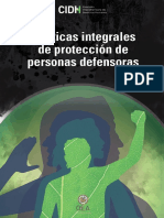 CIDH Proteccion Personas Defensoras