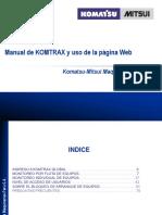 Manual Komtrax Web CU