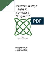 Modul Matematika Lingkaran Xi Wajib