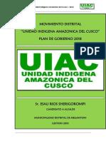 Plan Megantoni Uiac - 2018