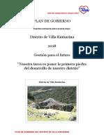 Plan de Gobierno Distrito de Villa Kintiarina
