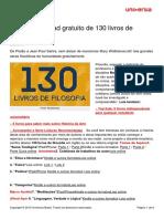 Faca Download Gratuito 130 Livros Filosofia