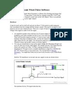 Crank Wheel Pulser Software