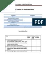 Pautas de Evaluacion Final