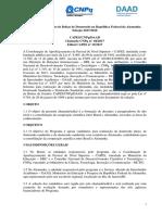 20170428 Edital Programa Conjunto de Bolsas de Doutorado CAPES CNPq DAAD