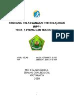 5. RPP Kelas 3 Tema 5 Permainan Tradisional
