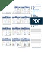 Calendario 2017 Argentina Con Feriados Incluidos