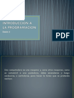 Sesión 2 Introducción a La Programación