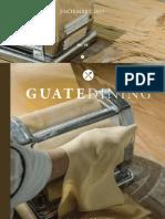 Colaboración en la revista Guatedining - Edición 40 - Diciembre 2017