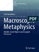 (Synthese Library 390) Paul Needham (Auth.)- Macroscopic Metaphysics_ Middle-Sized Objects and Longish Processes-Springer International Publishing (2017)