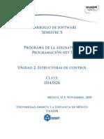 Unidad 2 Estructuras de Control