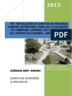 Pip Instalacion de Centros de Vigilancia Comunal Nutricional Final