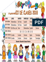 HORARIO DE CLASES 2018 tercero.pptx