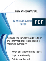 English VI Q4W7D1