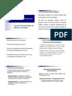 Ciencia do ambiente - Aula 3 - Lei da Conservação de massa e energia.pdf