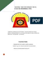 Plan de Tesis -Saneamiento