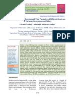 Studies on Growth, Flowering and Yield Parameters of Different Genotypes of Gerbera (Gerbera jamesonii Bolus)