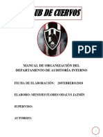 Manual de Organización Del Departamento de Auditoría Interno
