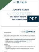 Plano de Estudos_curso de Direito Processual Civil_alexandre Câmara
