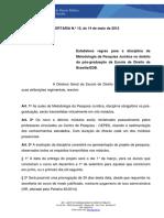 Portaria n. 15 - Compilada Aulas de Metodologia