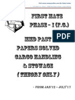 Cargo - Solved Past Papers - Theory - Phase I