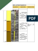 Informe Perfil Estratigráfico