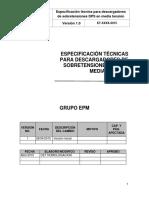 Especificacion Tecnica -  Descargador MT junio 2015.pdf