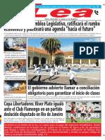 Periódico Lea Jueves 01 de Marzo Del 2018