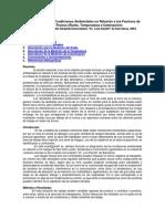 Diagnóstico de Las Condiciones Ambientales en Relación a Los Factores de Riesgos Físicos