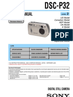 Cybershot DSC-P32 Service Manual