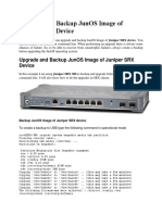 Upgrade and Backup JunOS Image of Juniper SRX Device