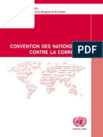 CONVENTION DES NATIONS UNIES CONTRE LA CORRUPTION