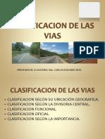 1. Clasificacion de Las Vias