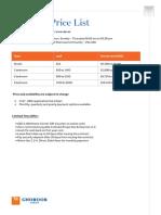 BTL Price Lists Ghoroob Jan 2018