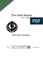 The Sikh Sansar USA-Canada Vol. 2 No. 3 September 1973