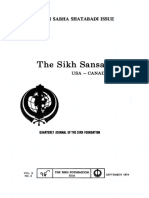 The Sikh Sansar USA-Canada Vol. 3 No. 3 September 1974 (Singh Sabha Shatabadi Issue)