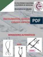 Instrumental en Cirugia Especial