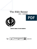 The Sikh Sansar USA-Canada Vol. 4 No. 1 March 1975