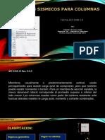Especificaciones Columnas ACI 318S 14