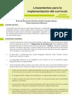 Lineamientos para la implementación del currículo