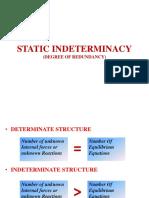 Static Indeterminacy