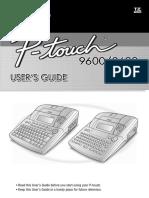 Uputstva Za Uporabu Printera PT 3600- EnGLESKA Verzija