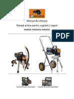 Manual de Utilizare Pompa Zugravit Bisonte PAZ6318 PAZ6321i PAZ6325ic Ro