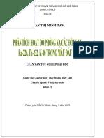 phân tích hoạt độ các đồng vị phóng xạ trong mẫu đất đá.pdf