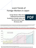 Recent Trends of Foreign Workers in Japan