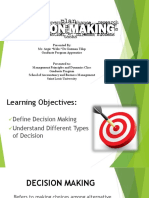 Decision Making Report