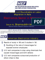 Electronics Sector in Malaysia