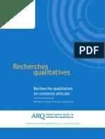Recherche qualitative en contexte africain