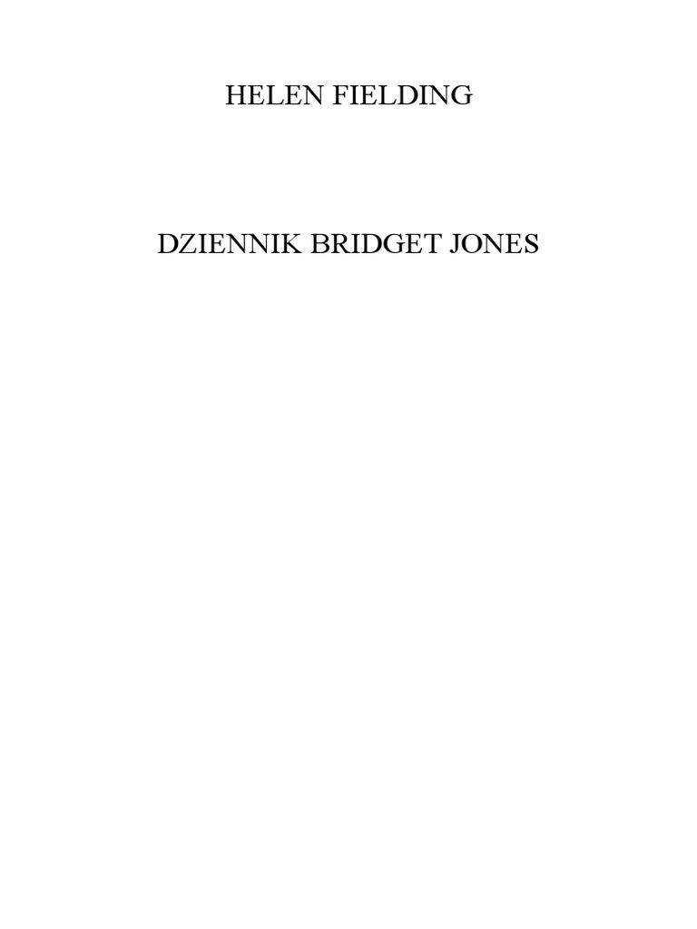 Fielding Helen Dziennik Bridget Jones