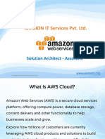 AWS Solution Architect Associate Training Course| AWS Certification pdf -ievision
